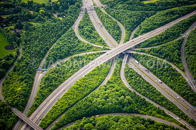 Aerial view of M25 / M23 interchange