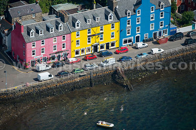 Aerial view of Tobermory, Scotland