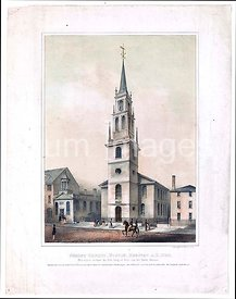 Christ Church, Boston - erected A.D. 1723 - this church contains the first ring of bells cast for North America