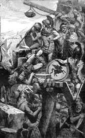 Alexander the Great at siege of Tyre