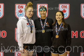 1500m Freestyle Women Awards Ontario Junior International, Day 1, December 14, 2018