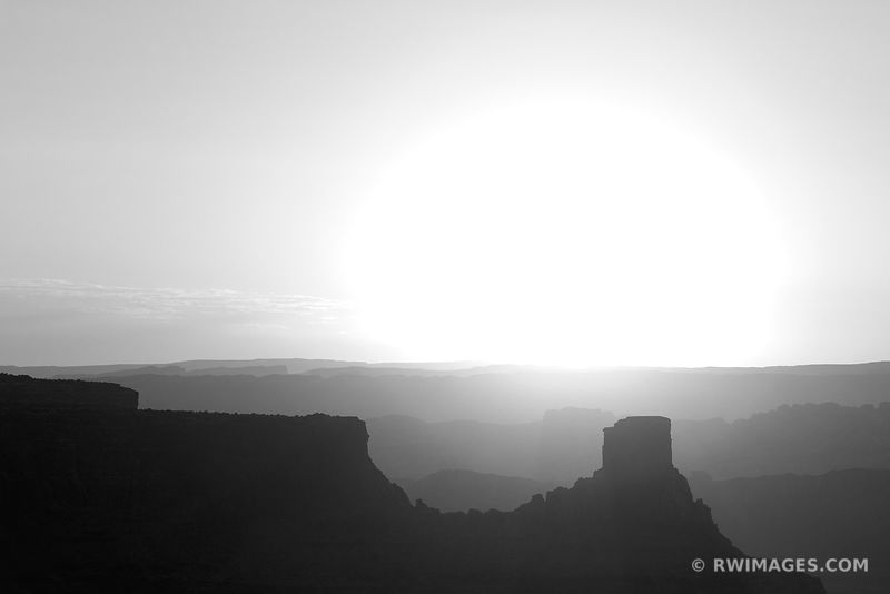 SUNRISE DEAD HORSE POINT STATE PARK UTAH CANYONLANDS NATIONAL PARK UTAH BLACK AND WHITE