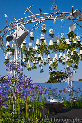 The Excuse me while I kiss the sky - a conceptual upside-down sculpture garden designed by Anoushka Feiler at the RHS Hampton...