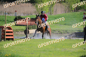 Péter TUSKA (HUN) and BEN BENDEGÚZ during National Qualifier Eventing Competition, cross country, 2018 April 21 - Bábolna, Hu...