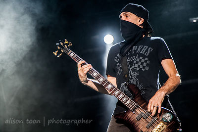Robbie Merrill of Godsmack at Aftershock 2014