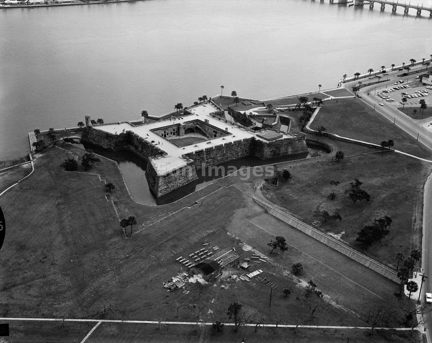 Aerial view of the Castillo de San Marcos, St. Augustine, Florida