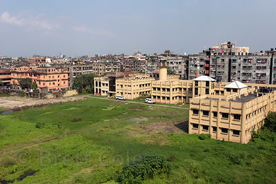 Rooftop view of apartment blocks in Salkia, Howrah, India