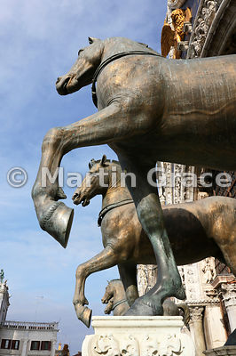 The four horses of St Mark, Basilica San Marco (St Mark's Basilica), Venice, Italy: Image 2 of 4