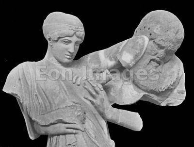 Athena springing forth from head of Zeus by Phidias