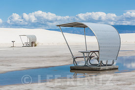 Space Age Picnic Shelter in White Sands National Monument