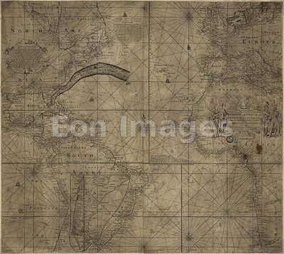 Franklin-Folger chart of the Gulf Stream