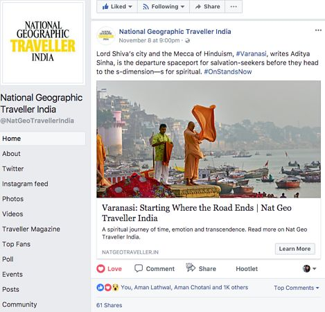 Nat Geo India, Facebook Page, Nov 08 2017