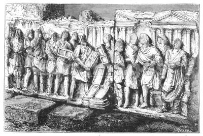 Roman Forum bas-relief depicting voting
