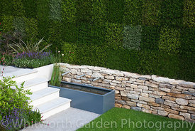 The 'Heathers in Harmony' garden designed by William Quarmby at the RHS Hampton Court Flower Show 2011. © Rob Whitworth