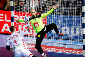 Vincent Gerard during the EHF EURO Croatia 2018 - Preliminary round -  Group B - France vs Belarus in Zatika Sports Centre, P...