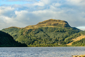 View of Loch Lubnaig in Loch Lomond & Trossachs National Park Scotland