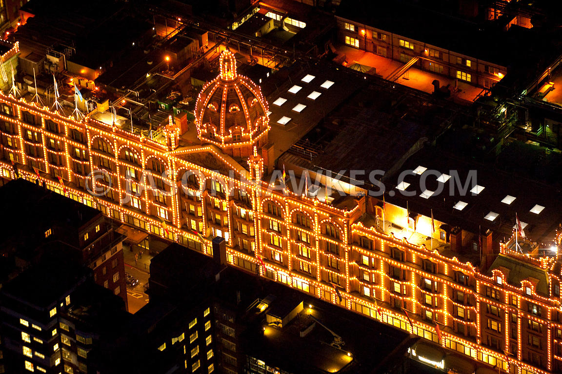 Aerial View Over Harrods, London