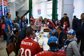 Fans during the Final Tournament - Final Four - SEHA - Gazprom league, Bronze Medal Match Meshkov Brest - PPD Zagreb, Belarus...