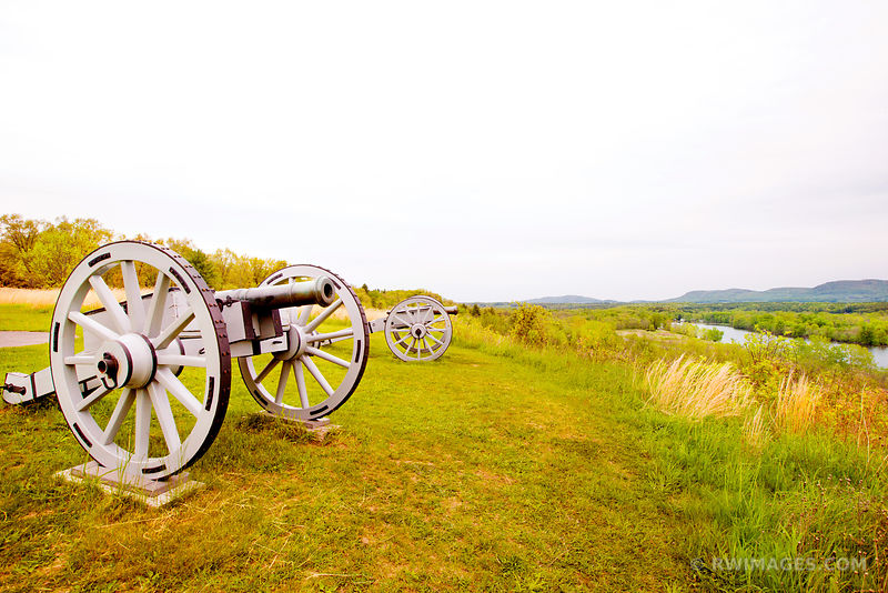 CANNON BATTLEFIELD SARATOGA NATIONAL HISTORICAL PARK NEW YORK COLOR