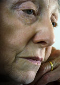 Thoughtful older woman