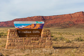 Entrance Sign for Vermilion Cliffs National Monument