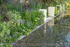 The Dogs Trust: A Dogs Life garden at the RHS Hampton Court Flower Show 2016. Designer: Paul Hervey-Brookes. Sponsor: Dogs Tr...