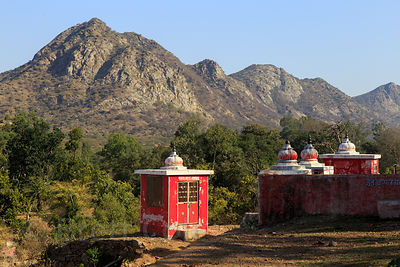 Hindu Temple, Panch Kund, Pushkar, Rajasthan, India