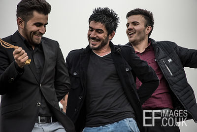 Happy Kurdish Guys Dancing