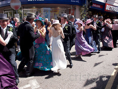 dancing in the Helston Flora Day parade