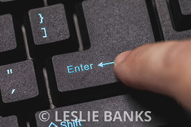 Enter Key on a Computer Keyboard