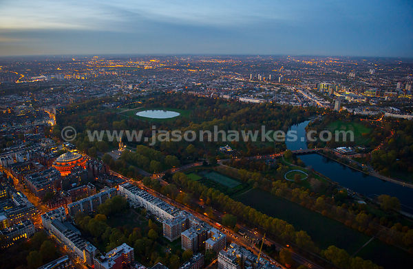 Aerial view of Kensington and Kensington park.
