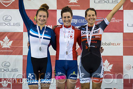 Women Individual Pursuit Podium. Canadian Track Championships, September 30, 2017