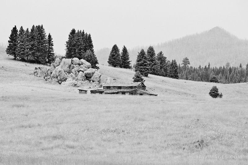 VALLES CALDERA NATIONAL PRESERVE NEW MEXICO LANDSCAPE BLACK AND WHITE