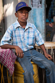Portrait of a boy in Sovabazar, Kolkata, India.