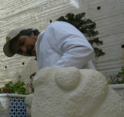 Palestinian Sculptor and Painter Jawad Ibrahim