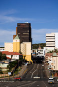 Highrise buildings in the city center, Windhoek, Namibia