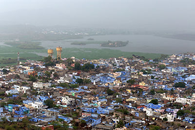 Elevated view of Kishangarh, Rajasthan, India