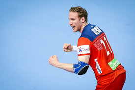 Magnus Gullerud during the EHF EURO Croatia 2018 - Preliminary round -  Group B - Norway vs Austria in Zatika Sports Centre, ...