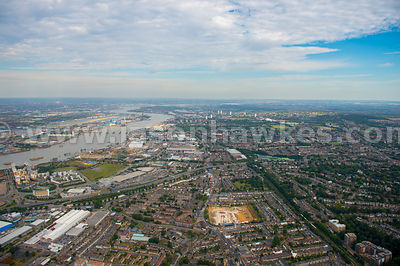 London. Aerial view of Greenwich