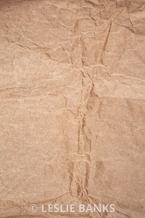 Wrinkled Brown Paper Bag Background