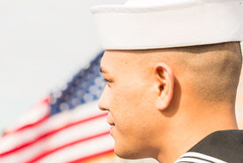 30 Military Servicemembers become US Citizens - USS Wisconsin