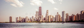 Chicago Panorama Retro Photo