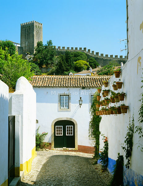 The medieval village of Óbidos. Portugal
