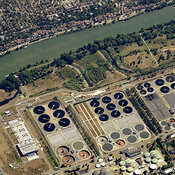 Water recycling Facility by the Seine, Paris