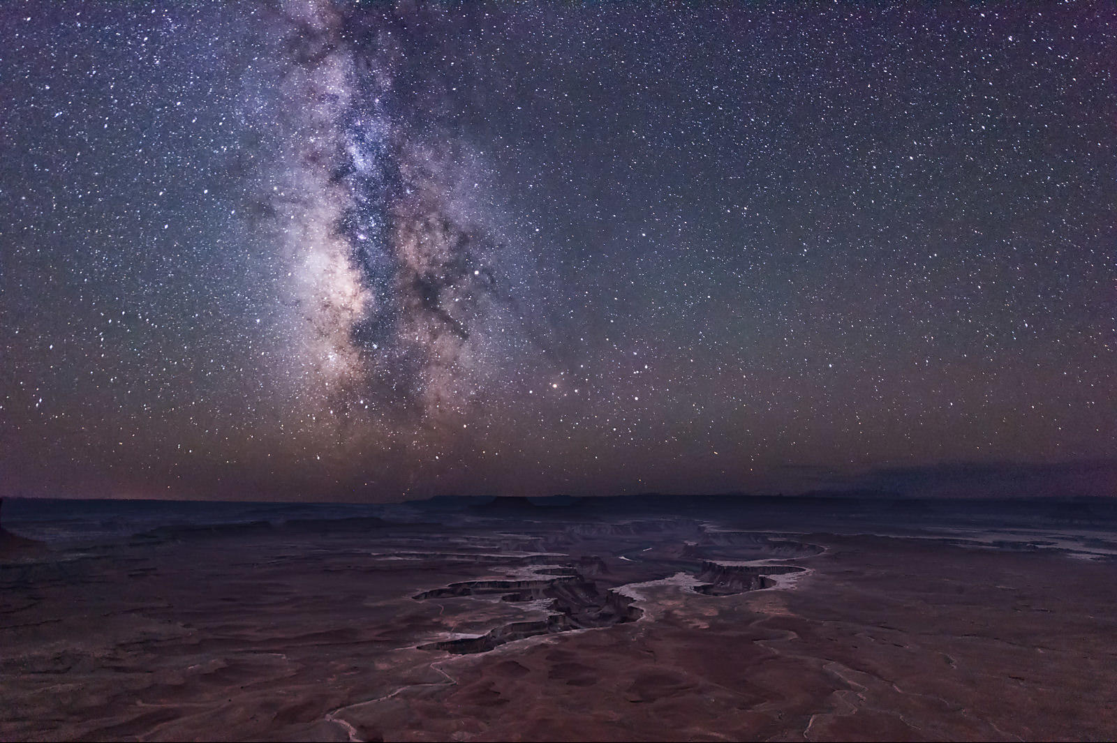 Milky Way Over the Green River