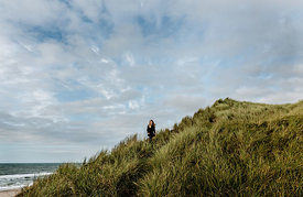 Girl in the dunes in Thy