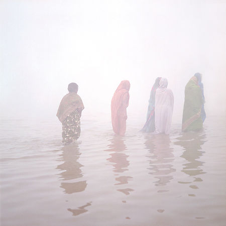Walking in the ganges