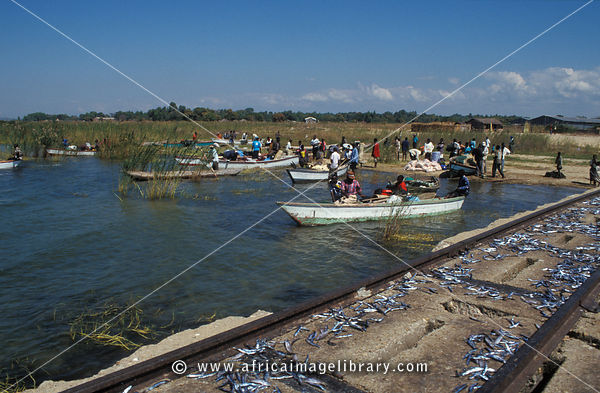fishing boat harbour, Nkhotakota, Lake Malawi, Malawi