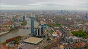 Aerial footage of Nine Elms and Vauxhall, London