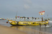 Pirogue on the beach, Beyin, Ghana